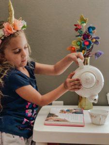 tea time, diy flower, egg carton craft
