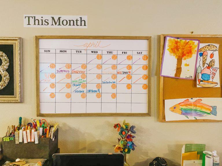 DIY Calendar, months