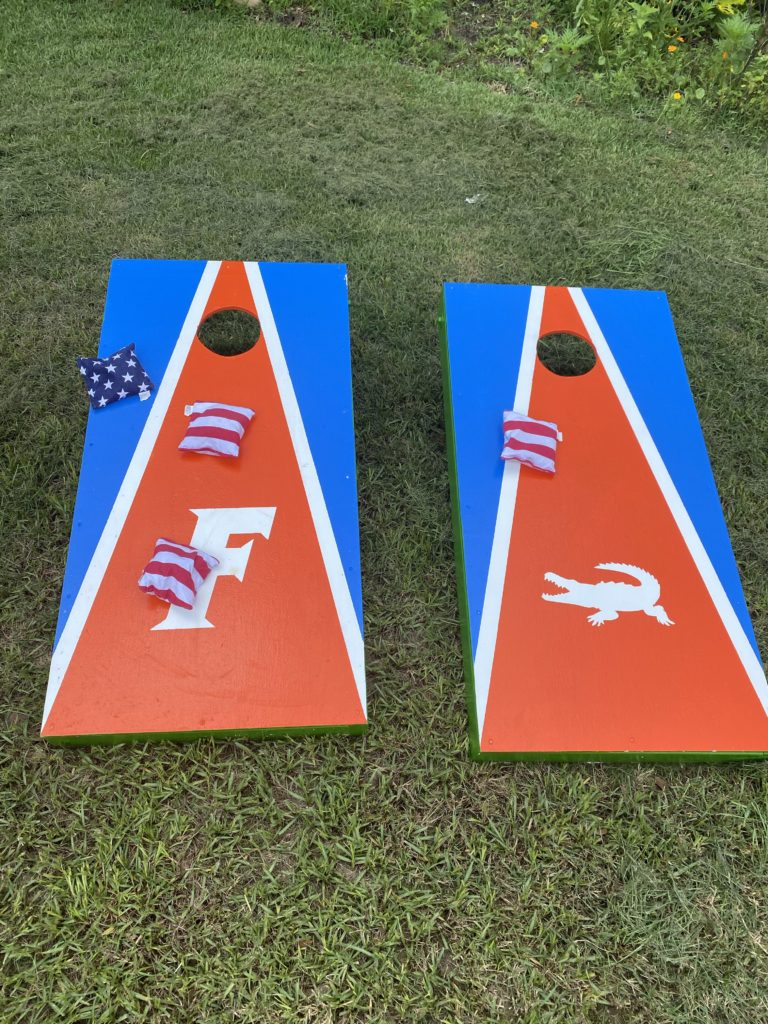 corn hole, diy, family games