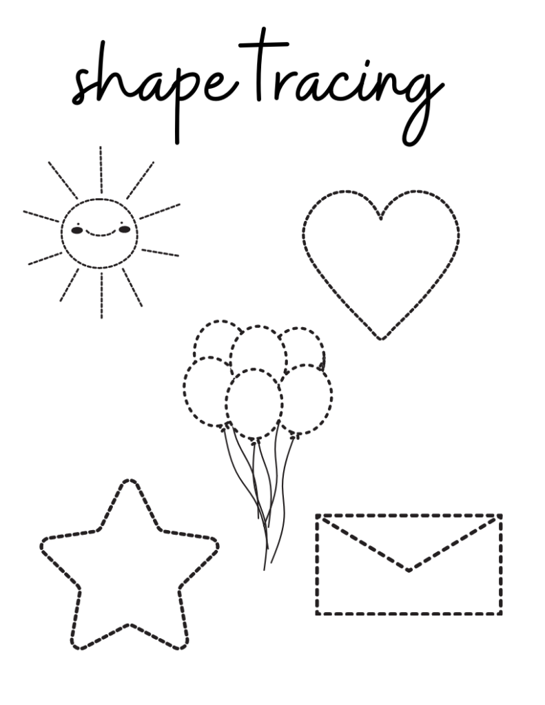 Tracing for toddlers, printables