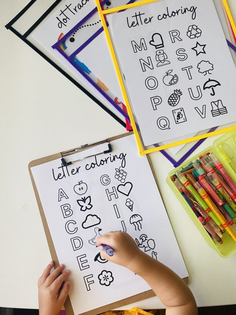 Printables, abc's, toddler learning,