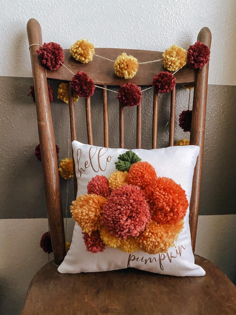 Hello Pumpkin Fall Pillow